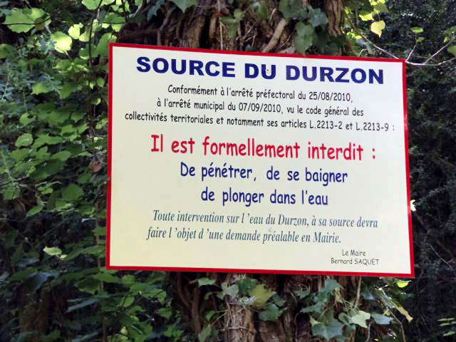 Durzon Panneau